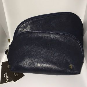 New Elliott Lucca Artisan Makeup Bag Set of Two 2